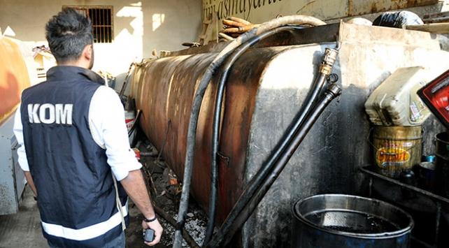 Adanada 16 ton kaçak karışımlı akaryakıt ele geçirildi