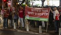 İsrail'in Gazze'ye saldırıları Tel Aviv'de protesto edildi