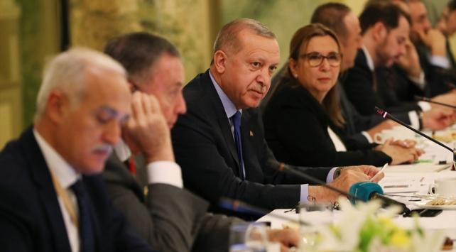 Cumhurbaşkanı Erdoğan ABDli iş insanları ile bir araya geldi