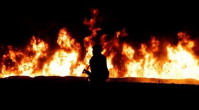 Mısırda petrol boru hattında yangın: 6 ölü, 15 yaralı
