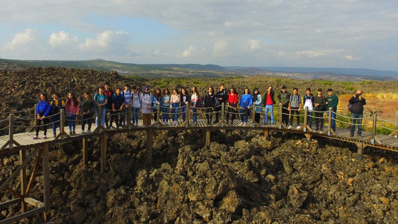 Manisadaki volkanik jeopark öğrencilere açık derslik oldu
