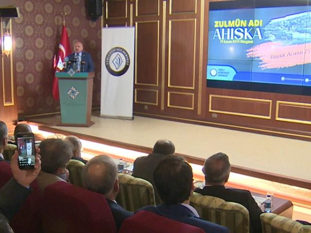 """Ahıska Türklerinin acı dolu günleri """"Zulmün Adı Ahıska"""" konferansında anlatıldı"""