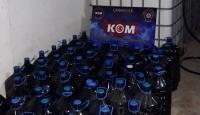 Çanakkale'de 4 bin 100 litre kaçak içki ele geçirildi