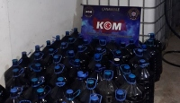 Çanakkale'de 4 bin 100 litre sahte içki ele geçirildi