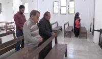 Tel Abyad'da Mehmetçiğin onardığı kilise ibadete açıldı