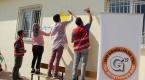 Köy okullarının gönüllü boyacıları