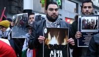 Brüksel'de İsrail'in saldırıları protesto edildi