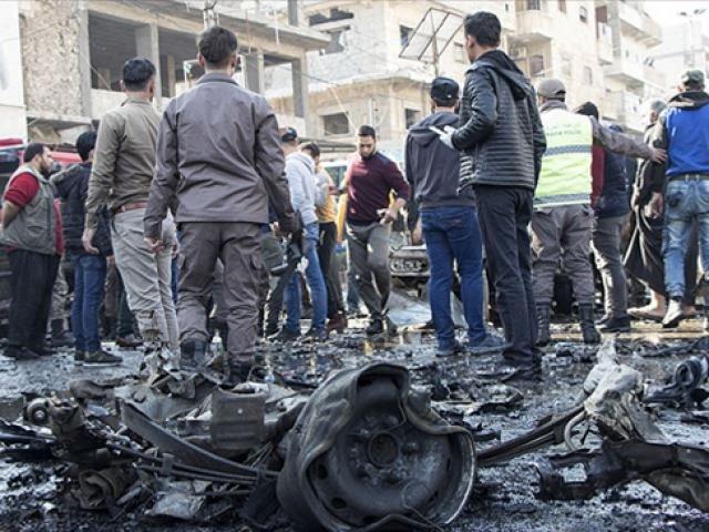 El Bab'da halk, PKK/YPG'nin terör saldırısını protesto ediyor