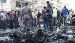 El Babda halk, PKK/YPGnin terör saldırısını protesto ediyor