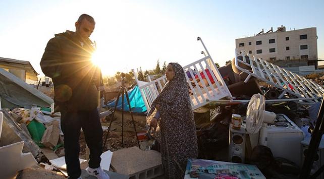 İsrail Kudüste Filistinli bir aileyi daha evsiz bıraktı