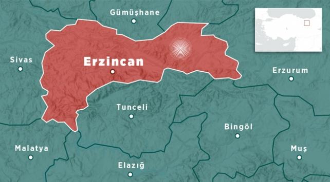 Erzincanda 3,1 büyüklüğünde deprem