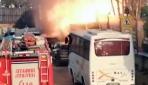 Kadıköyde korkutan patlama anı kamerada