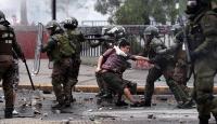 Şili'de güvenlik güçlerine protestolar sırasında havalı silah kısıtlaması