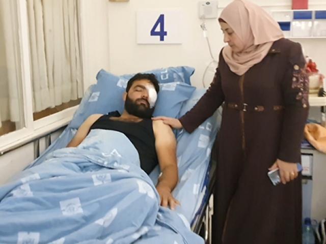 İsrail müdahalesinde gözünü kaybeden Filistinli gazeteci TRT Haber'e konuştu