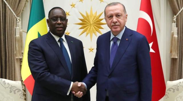 Cumhurbaşkanı Erdoğan Senegal Cumhurbaşkanı Sall ile bir araya geldi