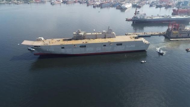 En büyük savaş gemisi 2020'de sularda olacak