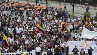 Kolombiya genel grev nedeniyle sınırlarını geçici olarak kapattı
