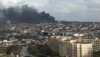 Çekmeköy'de askeri bölgedeki ormanlık alanda yangın
