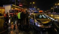 İstanbul'da 11 aracın karıştığı zincirleme trafik kazası: 2 yaralı