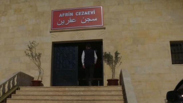 TRT Haber, DEAŞ'lı teröristlerin tutulduğu Afrin Cezaevi'ne girdi
