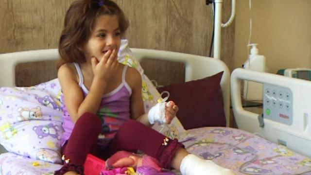 Gazzeli Lina'ya Türk doktorlar umut oldu