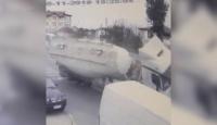 Ordu'da çimento yüklü tanker devrildi: 1 yaralı