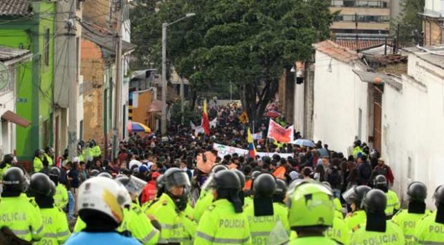 Kolombiya'da hükümet karşıtı protestolar 7. gününü doldurdu