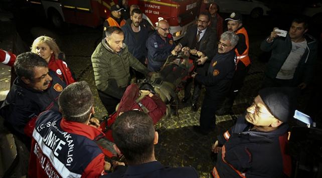 Ankara Kalesinden düşen kişi yaralandı
