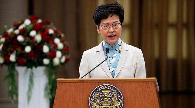 Hong Kong lideri, ABDnin yasasına tepki gösterdi