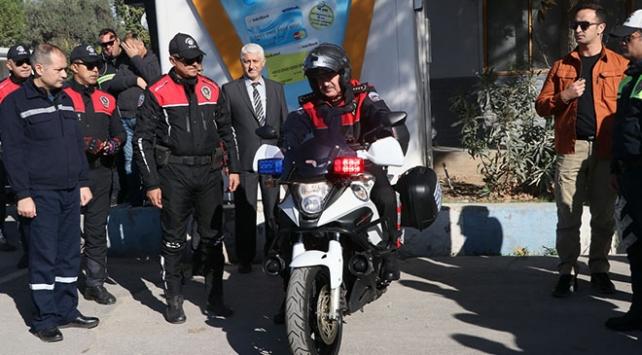 Şehit polis Fethi Sekinin motosikletini 3 yıl sonra emniyet müdürü kullandı
