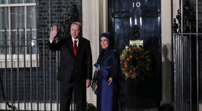 Erdoğan, liderler onuruna verilen yemeğe katıldı