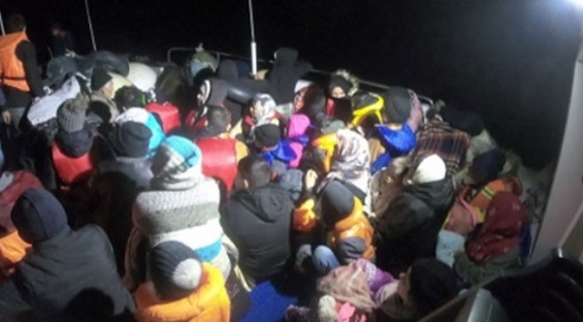 Çanakkalede 44 düzensiz göçmen yakalandı
