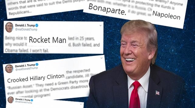 Trumpın Twitterdaki favori takma adlar sözlüğü