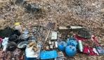 Vanda 20 kilogram amonyum nitrat ile akaryakıt karışımı patlayıcılar imha edildi