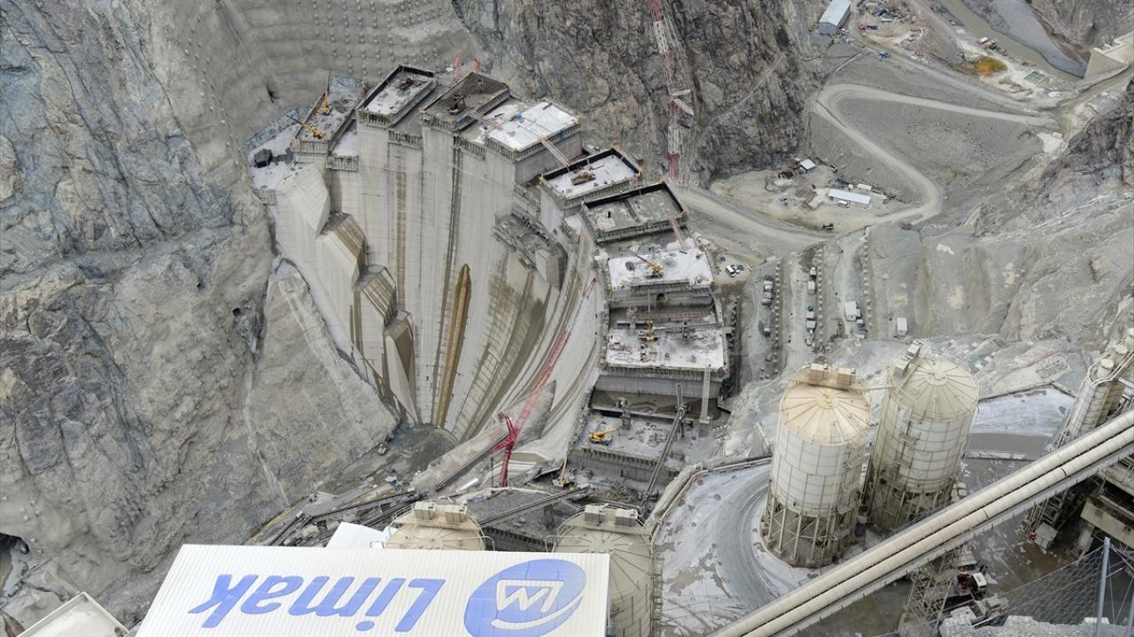 Yusufeli Barajı ve HESin güncel görüntüleri paylaşıldı