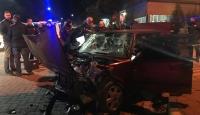 Uygulama noktasından kaçan sürücü kaza yaptı