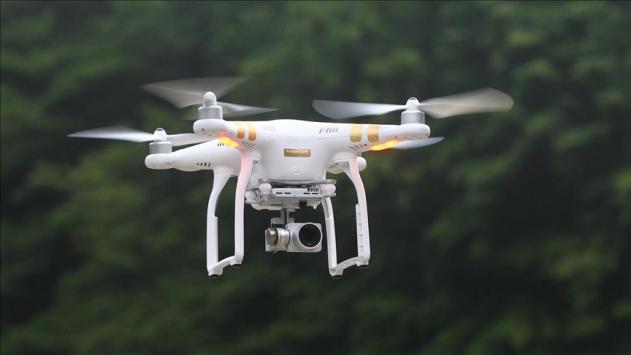 Sivil havacılık drone ile uçuşta