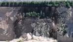 Dev toprak kütlesi nehre böyle kaydı