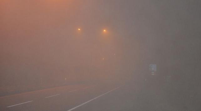 Kırıkkalede ulaşıma etkili sis engeli