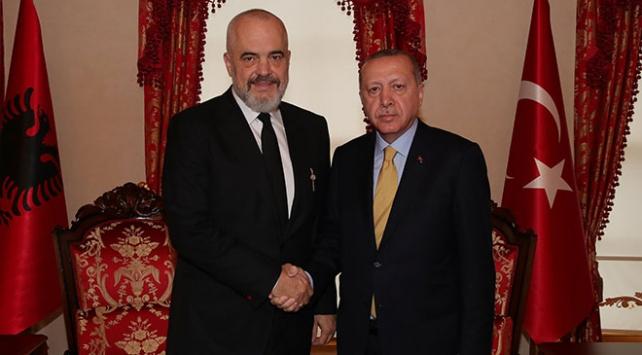 Cumhurbaşkanı Erdoğan, Arnavutluk Başbakanı Ramayı kabul etti