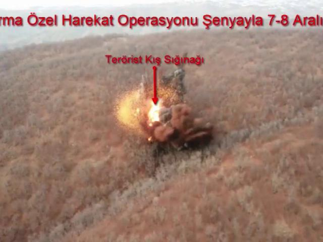 5 teröristin etkisiz hale getirildiği operasyonun görüntüleri ortaya çıktı