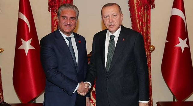 Cumhurbaşkanı Erdoğan Pakistan Dışişleri Bakanı Kureyşiyi kabul etti