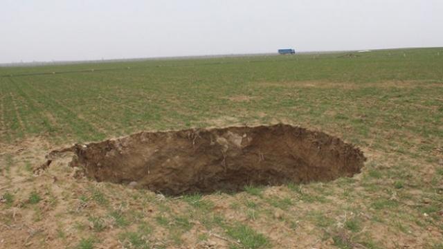 Konya'da yeni bir obruk daha meydana geldi