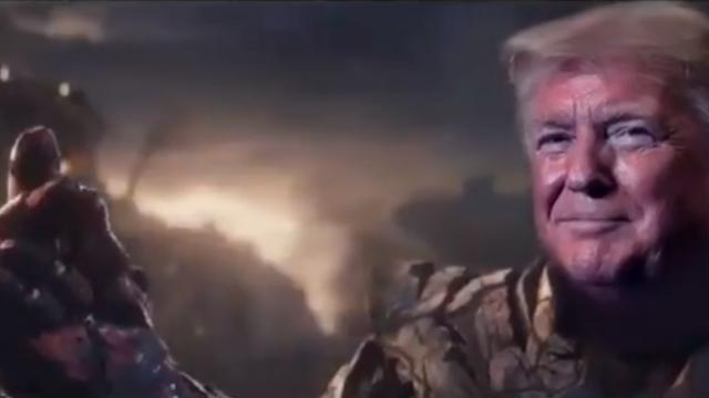 ABD Başkanı Trump şimdi de Thanos oldu