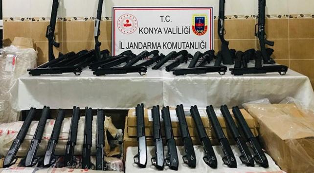 Kargo aracında kaçak üretim 173 tüfek ele geçirildi