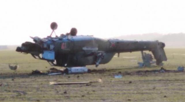 Rusyada askeri helikopter düştü: 2 ölü