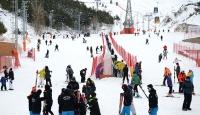 Kayakseverler Palandöken'e akın etti