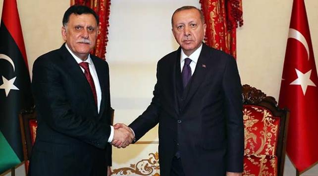 Cumhurbaşkanı Erdoğan Fayez Al Sarrajı kabul etti