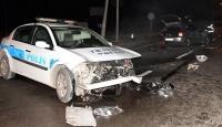 Kırıkkale'de polis aracı ile otomobil çarpıştı: 2'si polis 3 yaralı