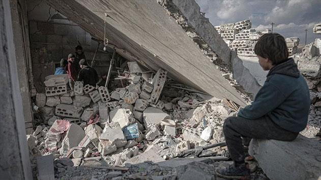 Rusyanın İdlibe saldırılarında 2 kardeş öldü